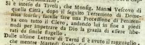 (Gazzetta di) Bologna, 25 ottobre 1785
